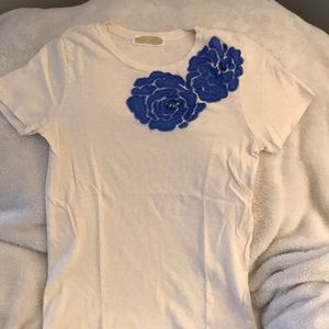 J. Crew tshirt with floral design
